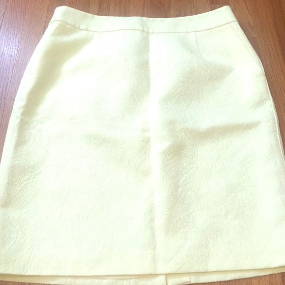 Banana Republic Yellow Skirt W/ Pockets NWOT Sz 12